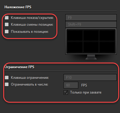 Вкладка FPS
